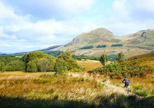 Mountain biking near Campsie Fells - Dumgoyne is prominent hill